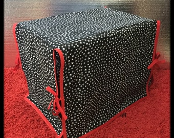 PAW PRINTS Black Print Dog Pet Kennel/Crate Cover