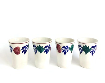 Antique Dutch Stick Spatter Ceramic Teacups Societe Ceramique Maestricht
