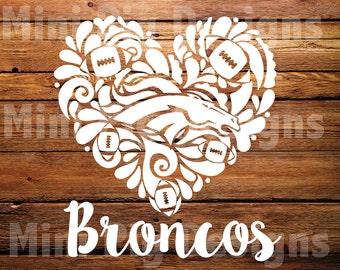 Broncos Heart SVG