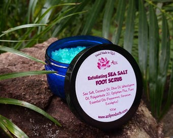 AZIL Exfoliating Sea Salt FOOT SCRUB