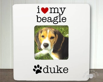 Personalized Dog Frame Personalized Pet Frame I Love My Dog Frame Gift for Pet Lover Custom Pet Frame Custom Dog Frame I Love My Dog IBFSPET