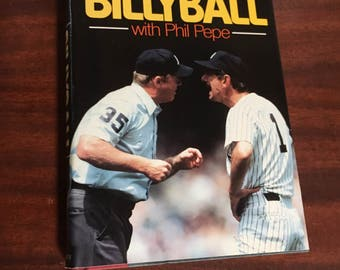 1st Edition Billyball by Billy Martin / Vintage Hardcover Book Billyball