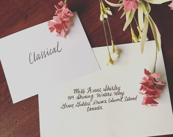 Hand-Addressed Envelopes for Wedding Invitations
