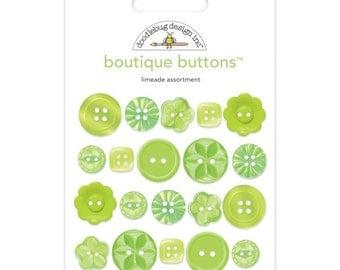 Limeade Boutique Button Assortment Doodlebug Design #2475