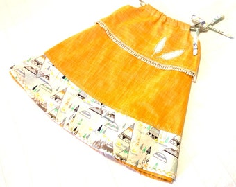 native american dress  2-3 years, bohemian dress, pillow slip dress, mustard linen dress, girls dresses, casual summer dresses girls,