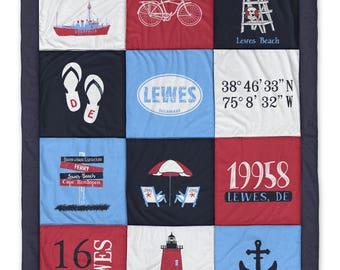 Lewes DE (2) Destination Blanket