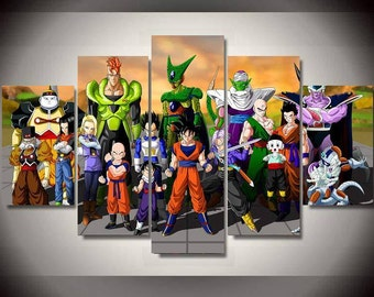 dragon ball z etsy. Black Bedroom Furniture Sets. Home Design Ideas