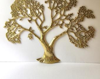 Retro Brass Tree Wall Hanging