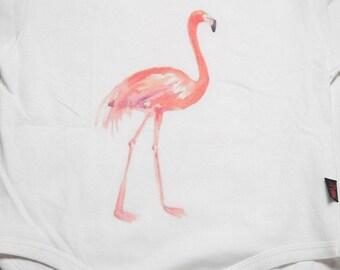 BOS-17 Flamingo Baby Onesie