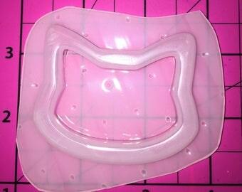 Kawaii Cat Head Outline Bezel for Shaker or Liquid Resin - Resin plastic resin molds