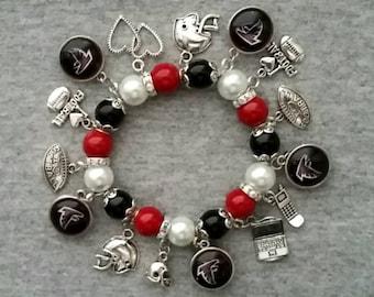 Atlanta Falcons charm bracelet