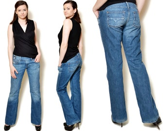 low rise jeans women diesel jeans Women denim pants vintage 90s clothing Women Clothing Minimalist womens Trousers rocker pants 30/M