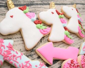 Unicorn Horn Sugar Cookie Elegant Edibles Bakery