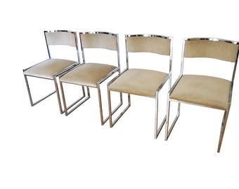Set of four dining chairs, 1970 italian