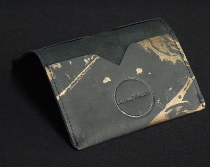 Bantam Wallet - Holds 12 cards and cash - 8of8 Bronze Art - Mens Womens Custom Strong Card Holder Sleeve Wallet RFID Credit Card Protection
