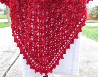 Crochet Shawl: Boho Triangle Crochet Shawl