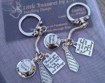 Father of the Bride & Father of the Groom Keychains (Set of 2)