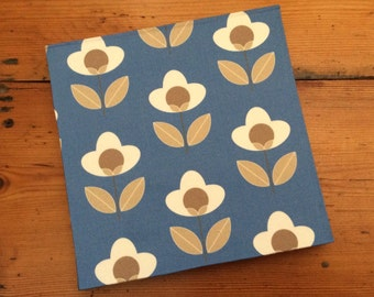 Fabric Covered Square Sketchbook