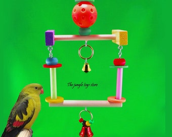 Jolie swing 5 '' (12.5 cm) wide x 11 '' (28cm) to attach to your cage, ideal for parakeets and other small birds iséparables!