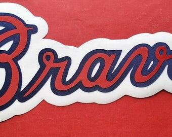 Huge Atlanta Braves Iron On Patch