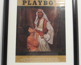 Vintage Playboy Magazine Cover Matted Framed : April 1964 - Karen Lynn, Peter Sellers