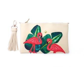 Vegan clutch - Vegan leather bag - Bridesmaid clutch - Clutch purse - Cosmetic bag - Zipper clutch - Vegan purse - Small vegan clutch bag