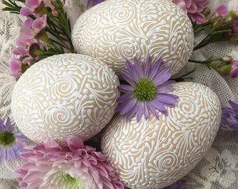 Decorative Wooden Eggs (set of 3)