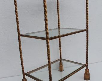Italian Gold Rope And Tassel Three-Tier  Etagere.