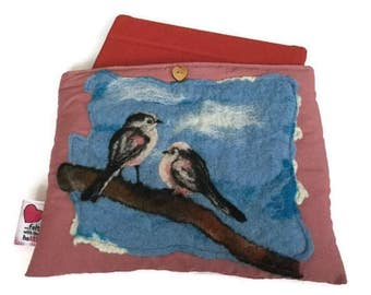 Luxury padded iPad / tablet case with original artwork birds