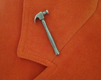 Pewter Hammer Lapel Pin