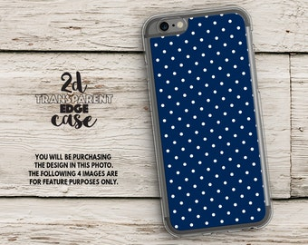 iPhone SE case blue polka dots iPhone 6s Case navy blue iphone 7 case iphone 5s case iphone 6s Plus case iphone 6 case iphone 6 plus LU354
