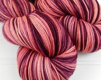 Merino, Cashmere, Silk fingering Sock yarn,  Hand Dyed Sock Yarn, MCS , Beautifully Soft and Smooth Yarn,