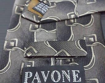 Buy 2get 2 free, Vintage PAVONE Ties, Made in Italy, Silk ties