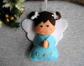 Christmas Ornament - Christmas Angel - Angel Wings - Angel Ornament - Angel Figurine - Angel Decor - Felt Ornament - Christmas Gift