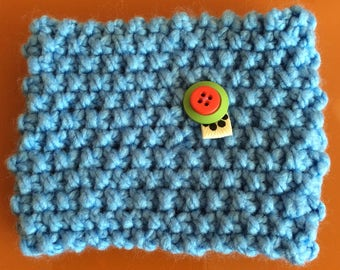 Dog Snood hand knitted in Turquoise