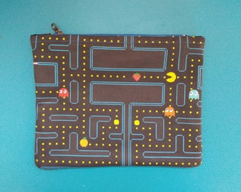 Pac-man Inspired  Zipper Bag
