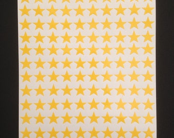 400 x Yellow Star Shape Peel and Stick Self Adhesive Vinyl Stickers 10 mm