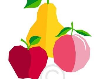 Apple-Peach-Pear