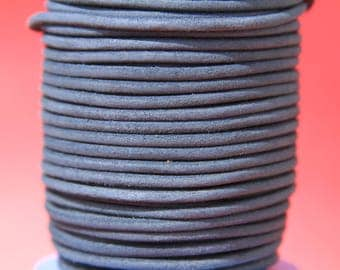 MADE in EUROPE 2 yards of suede cord, 3mm round suede cord (3crogri)