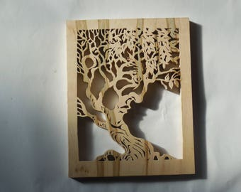 Tree of life with face