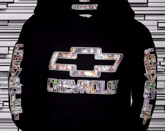 CHEVROLET CAMO Pullover Sweatshirt (new) Adult Popular Hoodies
