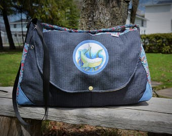 AVAILABLE! Large sling bag / large purse / whale / sailor