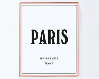 Paris Poster, France, Graphic Art, Poster, Print, Gift
