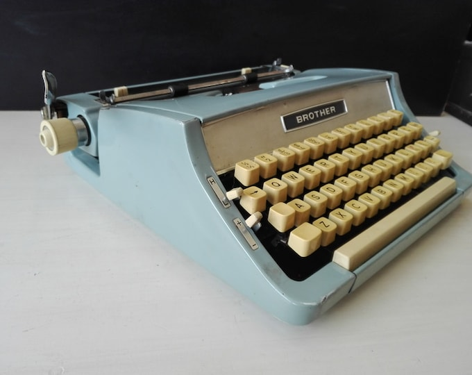 Baby Blue Brother typewriter