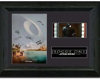 Rogue One: A Star Wars Story 35 mm Framed Film Cell Display Stunning Collectible Signed S1