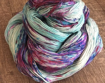 Bejeweled, BFL High Twist Sock, 2 ply, 80/20 Superwash English Bluefaced Leicester/Nylon