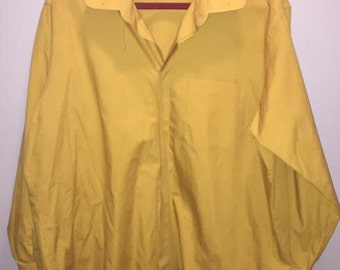 Vintage Mustard Yellow Button Down / size 17 / by D'amante