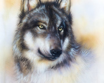 The Wolf counted cross stitch kit