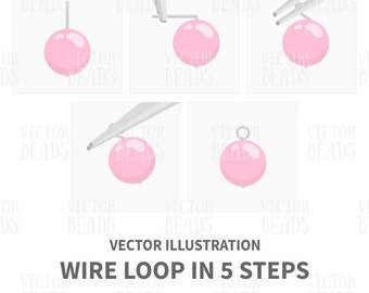 How to Make a Simple Wire Loop Vector Illustration Presented in Five Steps