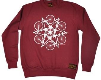 Bicycle Sweatshirt Cycle Circle Kaleidospoke Unisex Sweater Biking Jumper Cyclist Funny Top Ladies Biker Bike Ride Exercise Health Pullover